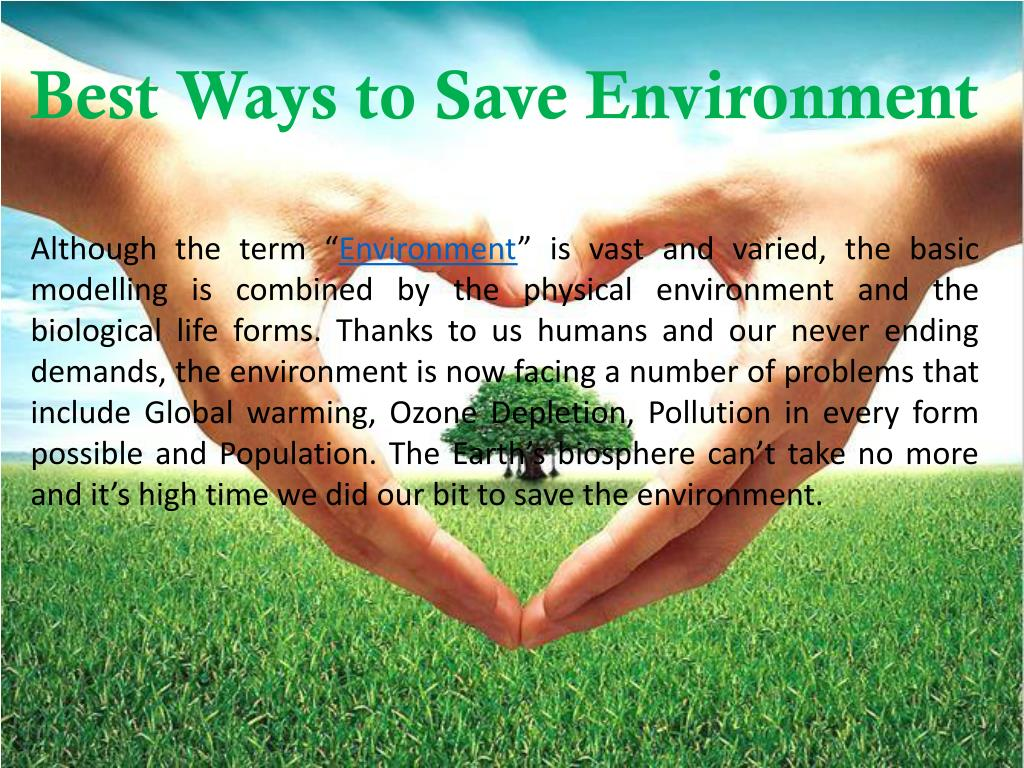 ppt best ways to save environment powerpoint presentation id 7756881