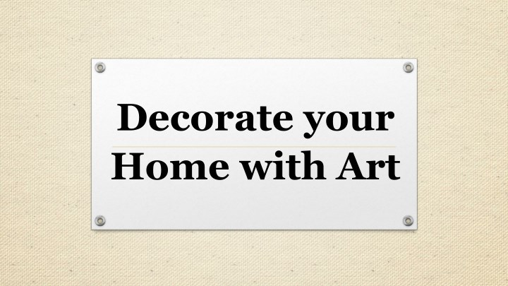 decorate your home with art n.