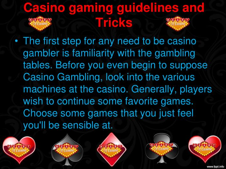 casino gaming guidelines and tricks n.