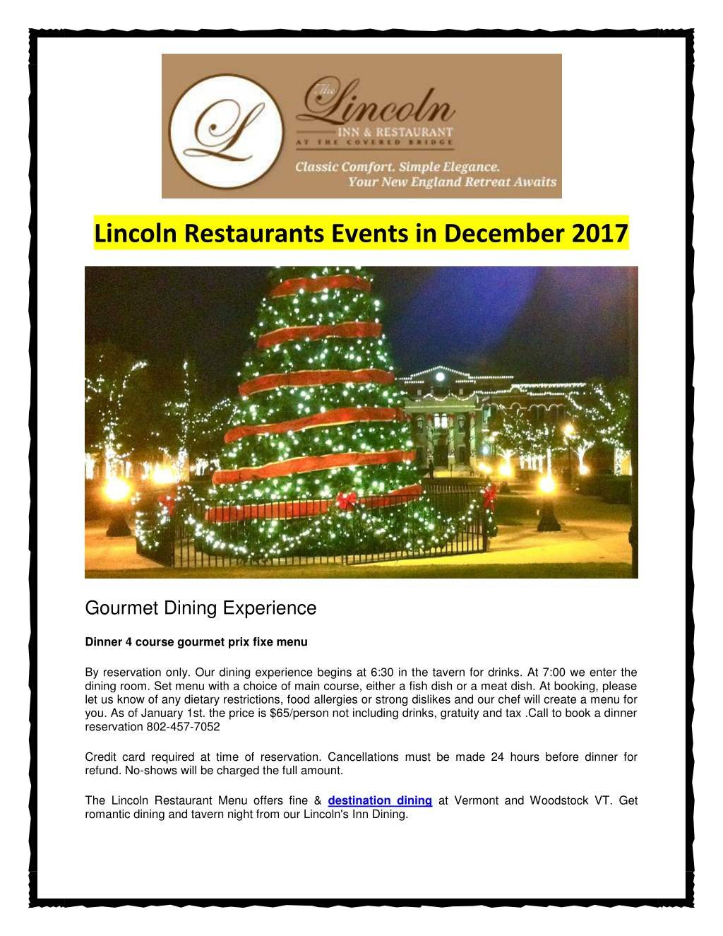 Ppt Lincoln Restaurants Events In