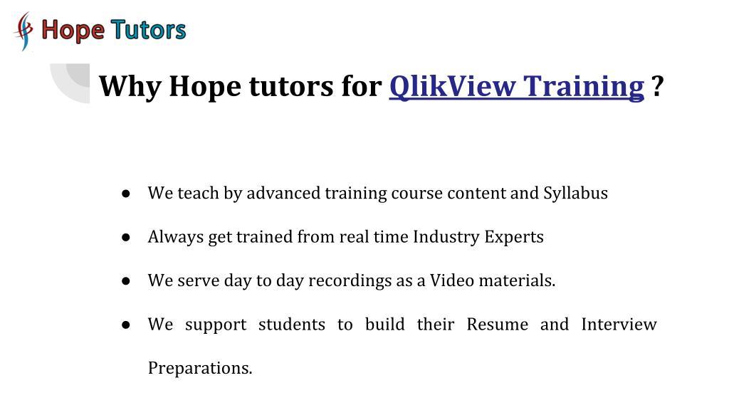 PPT - QlikView Training in Chennai   Best BI Training Institute