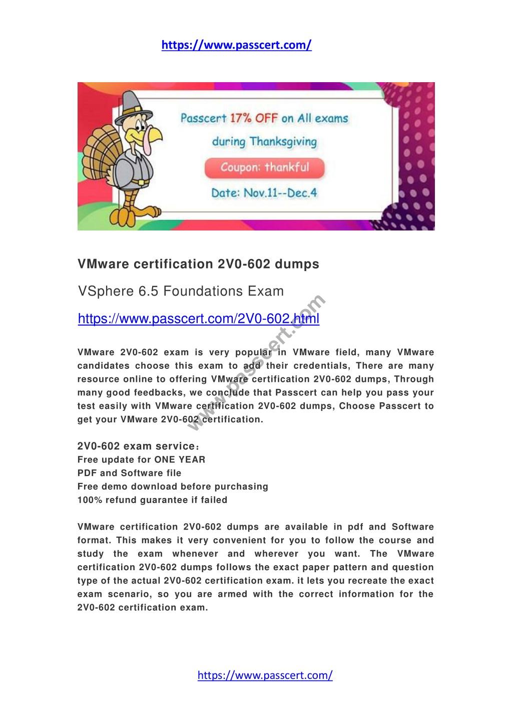 Ppt Vmware Certification 2v0 602 Dumps Powerpoint Presentation