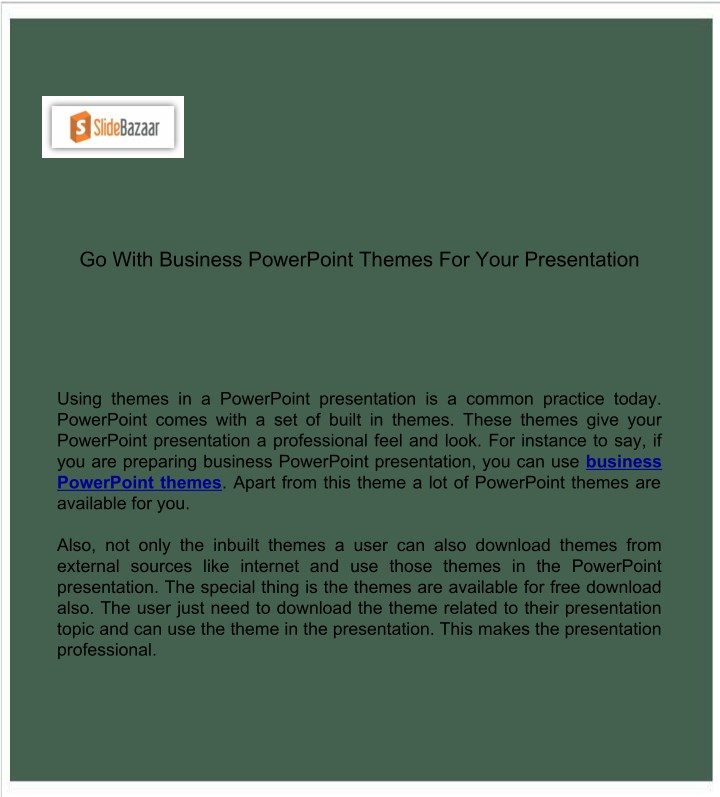 ppt go with business powerpoint themes for your presentation