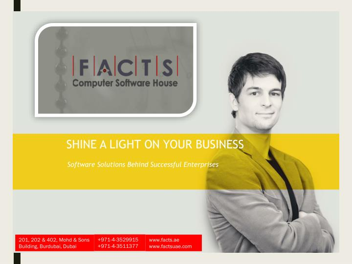 shine a light on your business n.