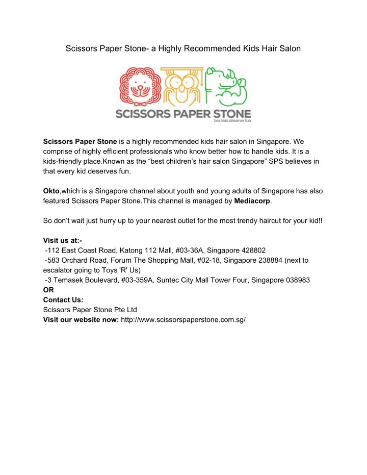 scissors paper stone a highly recommended kids n.