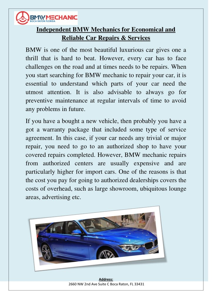 independent bmw mechanics for economical n.