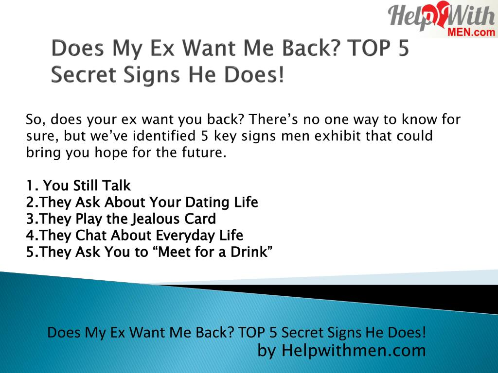 Does My Ex Want Me Back Signs