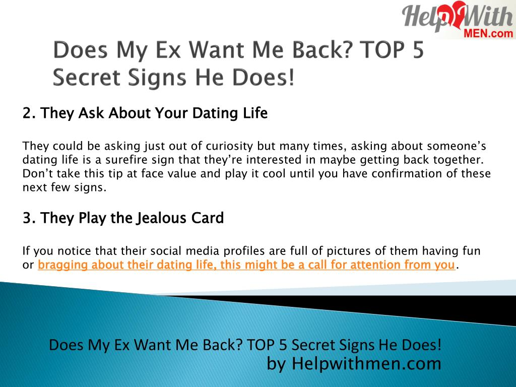 PPT - How do I know My Ex Wants Me Back? PowerPoint Presentation