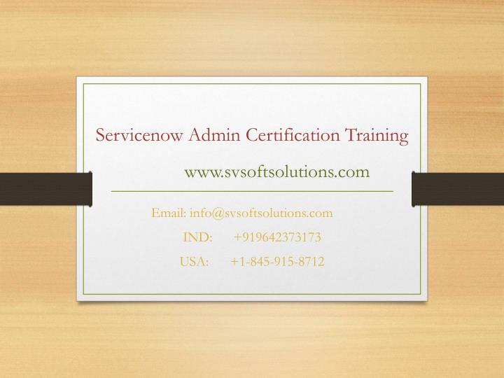PPT - Servicenow Admin Certification Training by SV Soft Solutions ...