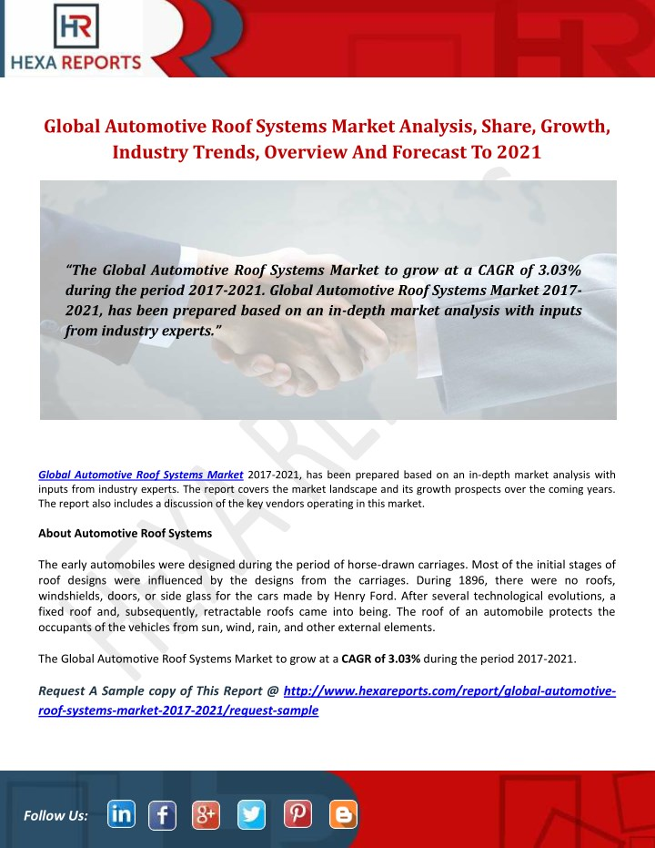 global automotive roof systems market analysis n.