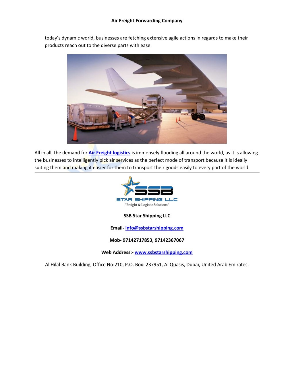 PPT - Air freight forwarding company PowerPoint Presentation