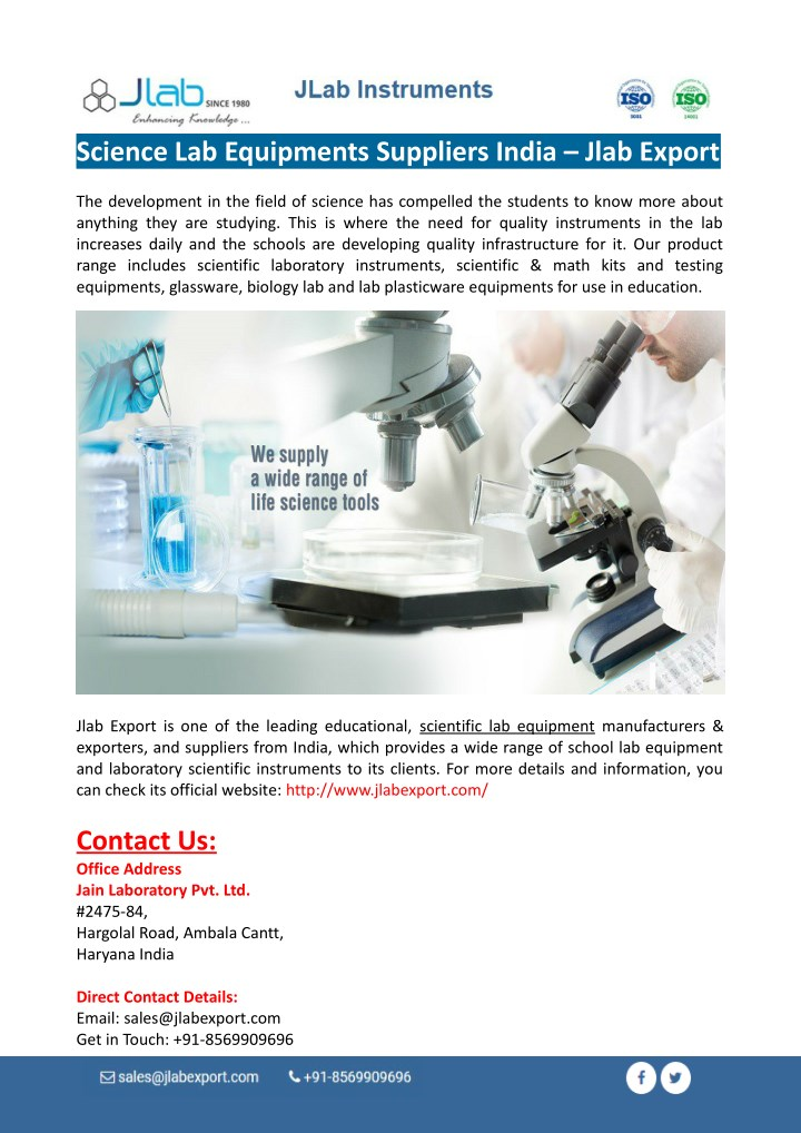 PPT - Science Lab Equipments Suppliers PowerPoint Presentation - ID