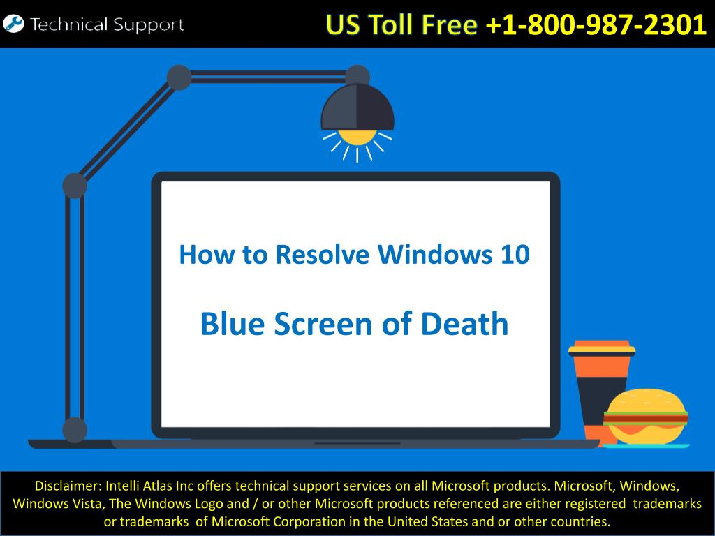 Ppt How To Resolve Windows 10 Blue Screen Of Death Errors