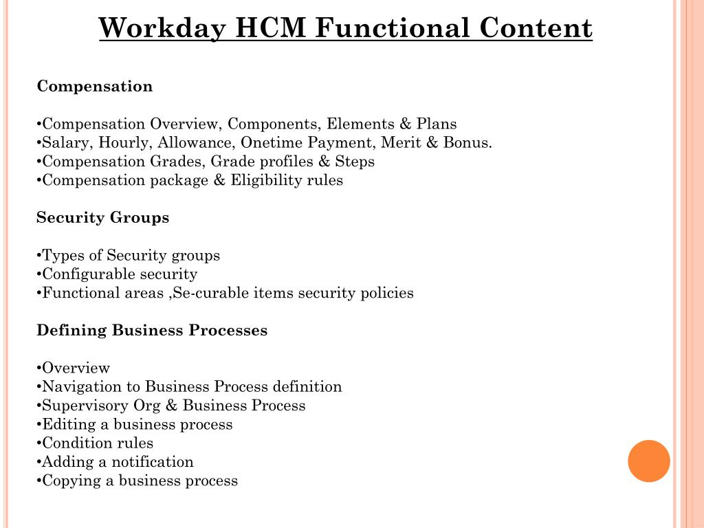 PPT - Workday HCM Techno-Functional By Certified Experts