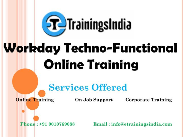 PPT - Workday HCM Techno-Functional By Certified Experts PowerPoint