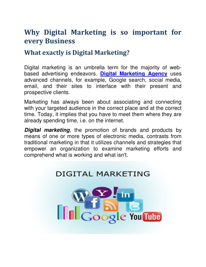 9d407160b16 Why Digital Marketing is Important For Every Business? - PowerPoint PPT  Presentation