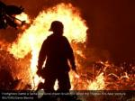 firefighters battle a santa ana wind driven brush 1