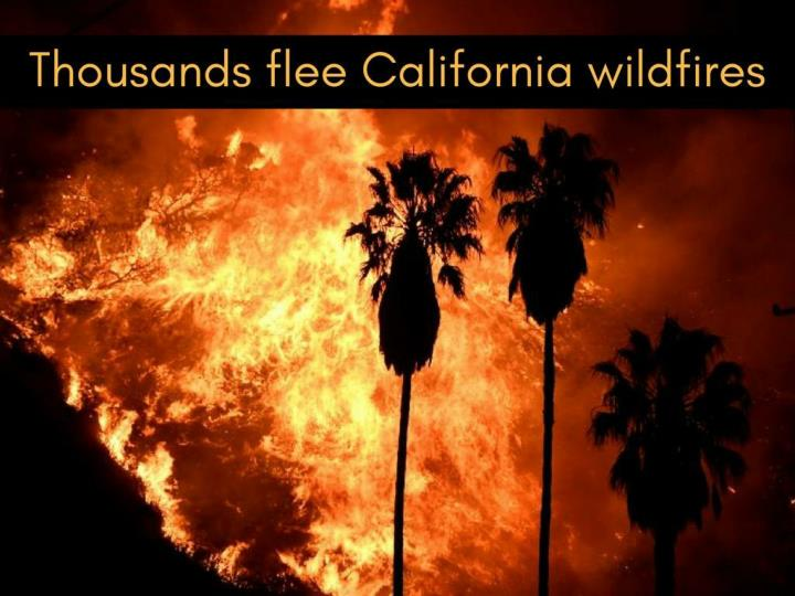 thousands flee california wildfire n.