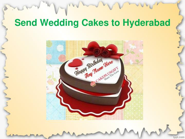 Send Wedding Cakes To Hyderabad