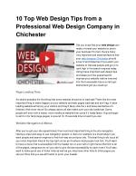 10 top web design tips from a professional web design company in chichester