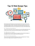 top 10 web design tips