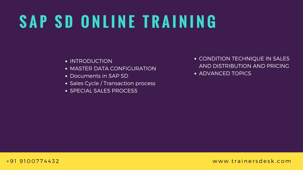 PPT - Best SAP ERP Online Training Institute in USA, UK and