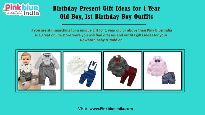 Birthday Present Gift Ideas For 1 Year Old Boy 1st Outfits