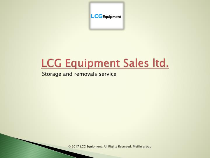 lcg equipment sales ltd n.
