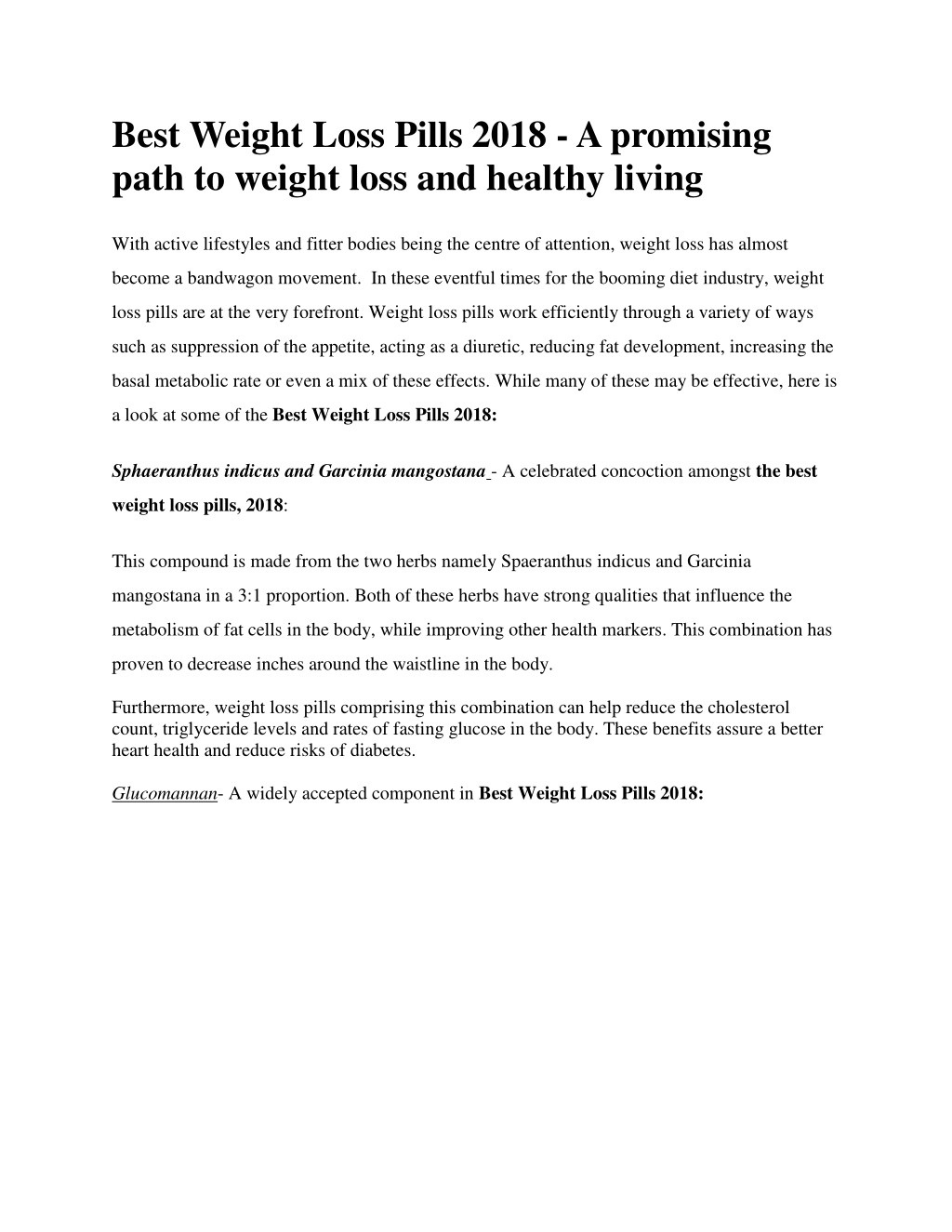 Ppt Best Weight Loss Pills 2018 A Promising Path To Weight Loss