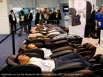 attendees try out the panasonic maj7 massage