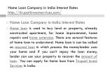 home loan company in india interest rates http tirupatiinvestservices com