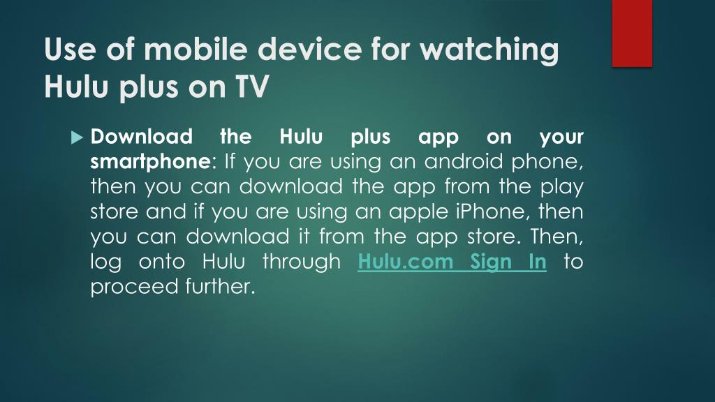 PPT - Manage hulu devices to watch movie PowerPoint Presentation
