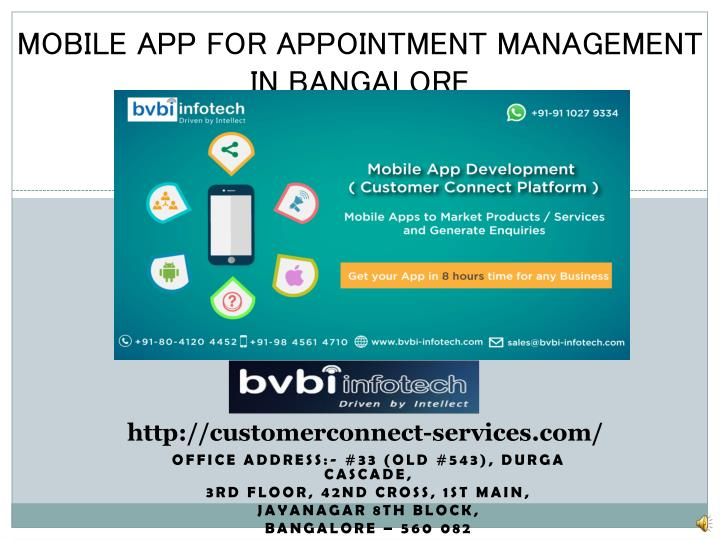 mobile app for appointment management in bangalore n.