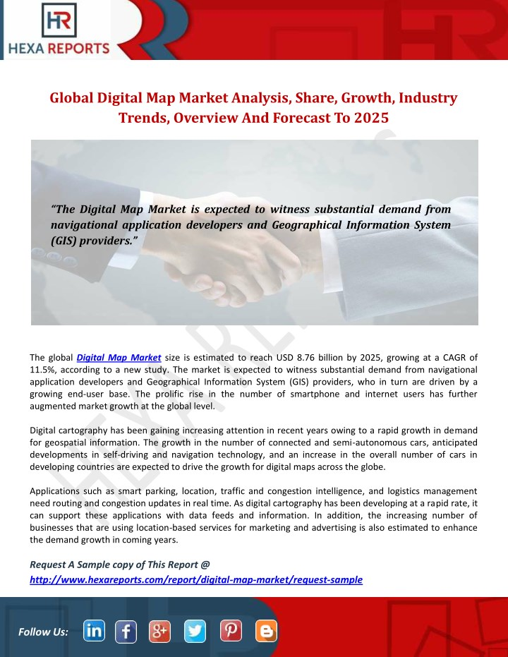 global digital map market analysis share growth n.