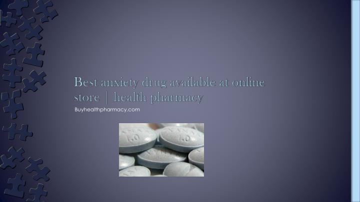 best anxiety drug available at online store health pharmacy n.