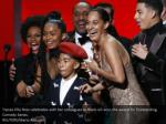 tracee ellis ross celebrates with her colleagues