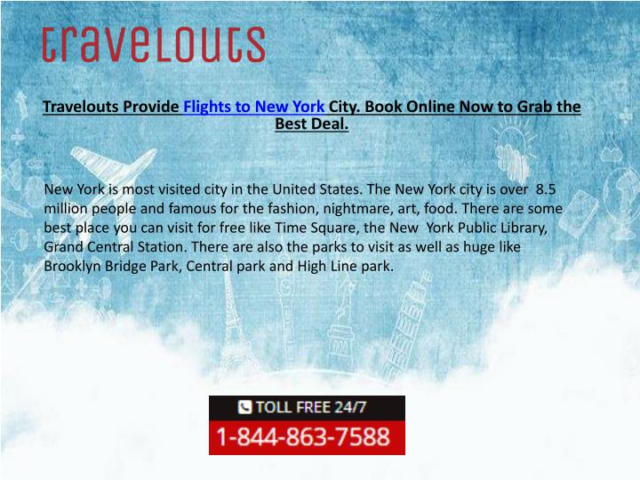 travelouts provide flights to new york city book online now to grab the best deal n.