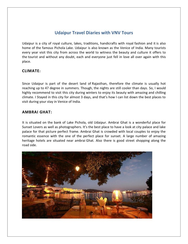 udaipur travel diaries with vnv tours n.