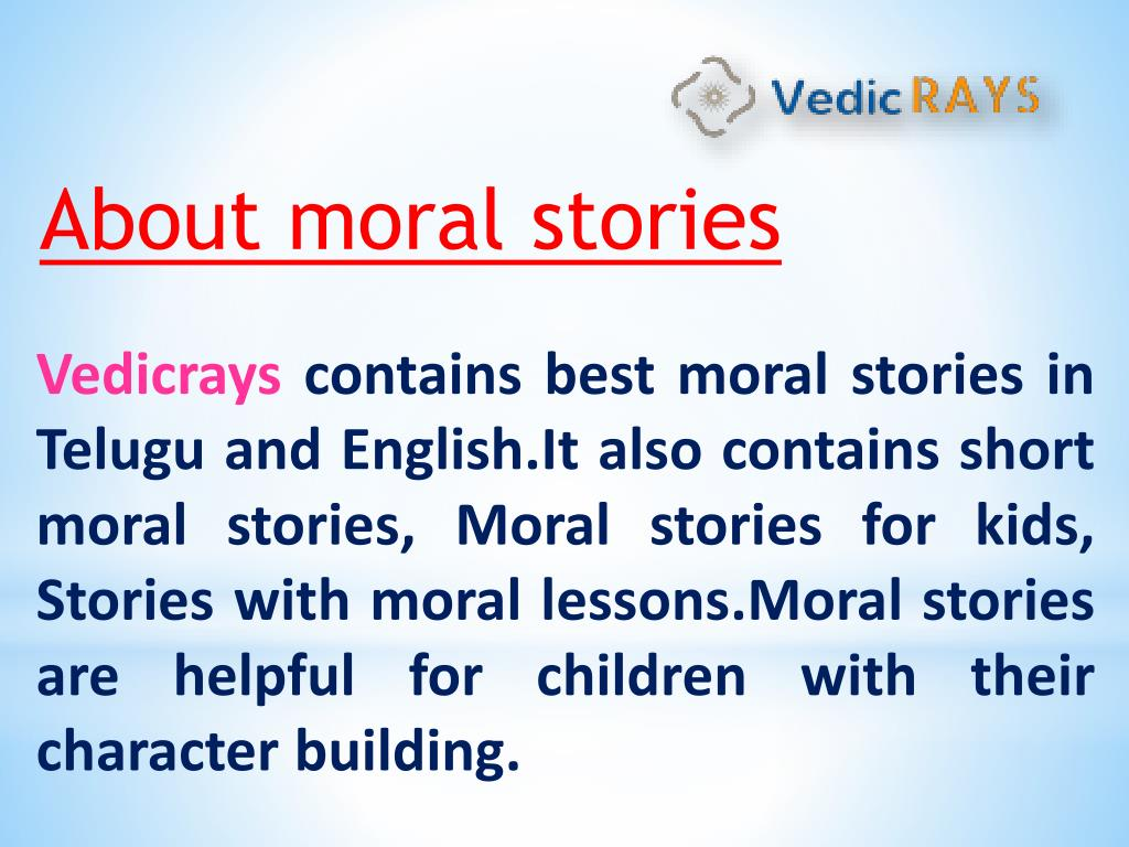 PPT - Moral stories in Telugu and English PowerPoint Presentation