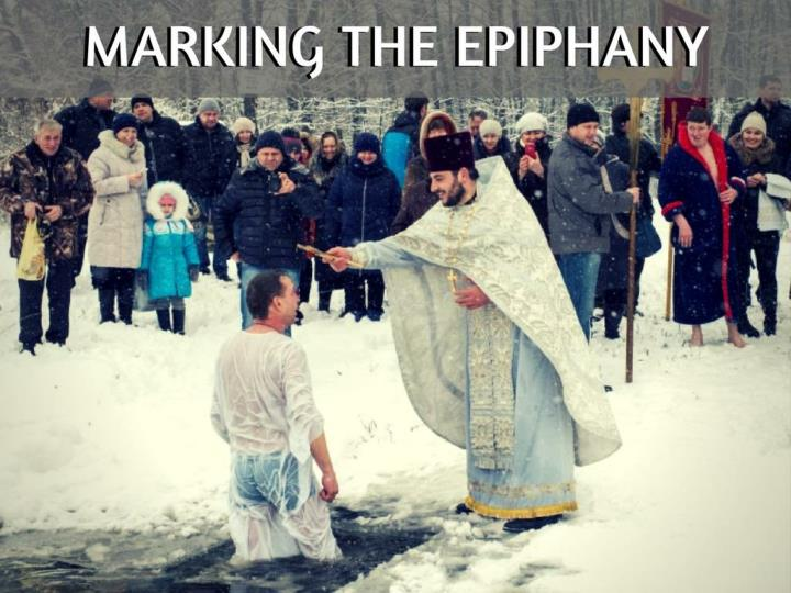 marking the epiphany n.