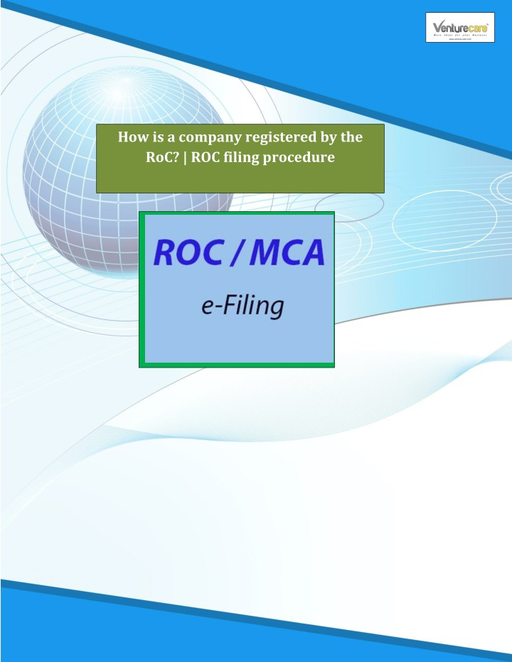 how is a company registered by the roc roc filing n.