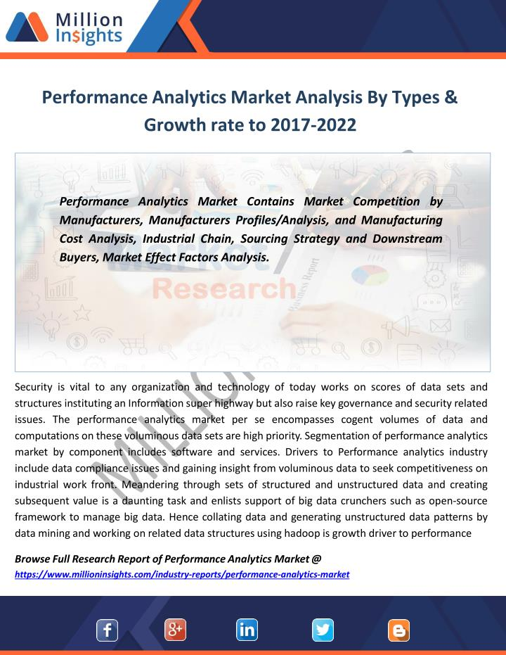 performance analytics market analysis by types growth rate to 2017 2022 n.
