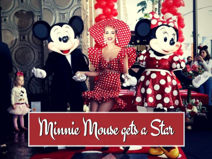 minnie mouse gets a star n.