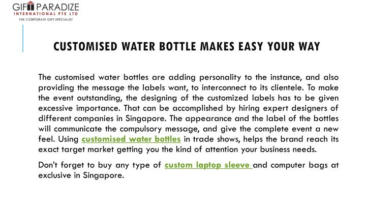 customised water bottle makes easy your way n.