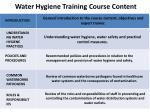 water hygiene training course content