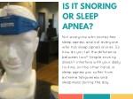 is it snoring or sleep apnea