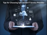 tips for choosing specialized it service provider