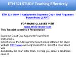 eth 321 study teaching effectively 20