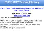 eth 321 study teaching effectively 6