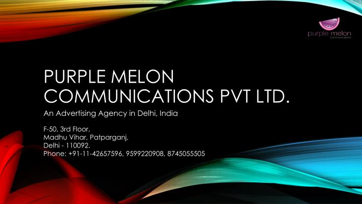purple melon communications pvt ltd n.